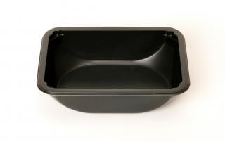 Лоток под запайку 187×137×50 мм черный с овальным дном