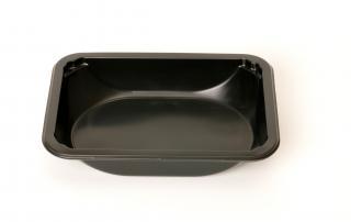 Лоток под запайку 187×137×36 мм черный с овальным дном
