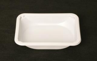Лоток под запайку 187×137×36 мм белый с овальным дном