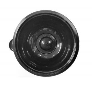 Лоток под запайку круглый 145×60 мм черный с крышкой