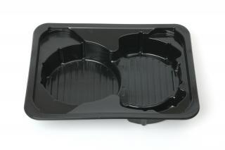 Секционный лоток для бургеров 227×178×40 мм черный