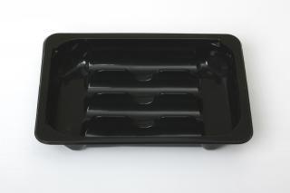 Секционный лоток для купат 210×148×33 мм черный