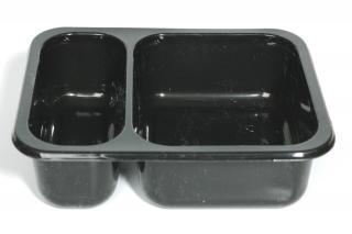 Лоток под запайку 187×137×45 мм черный 2 секции
