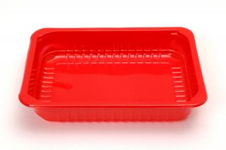 Лоток под запайку 227×178×50 мм красный