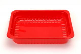 Лоток под запайку 227×178×35 мм красный